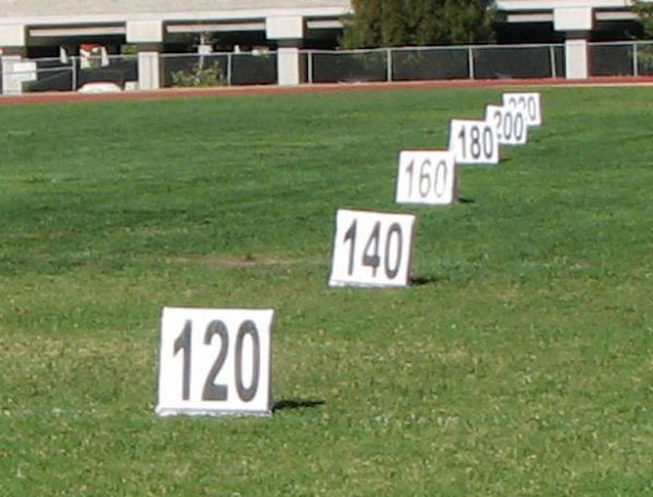 VS Discus field distance markers